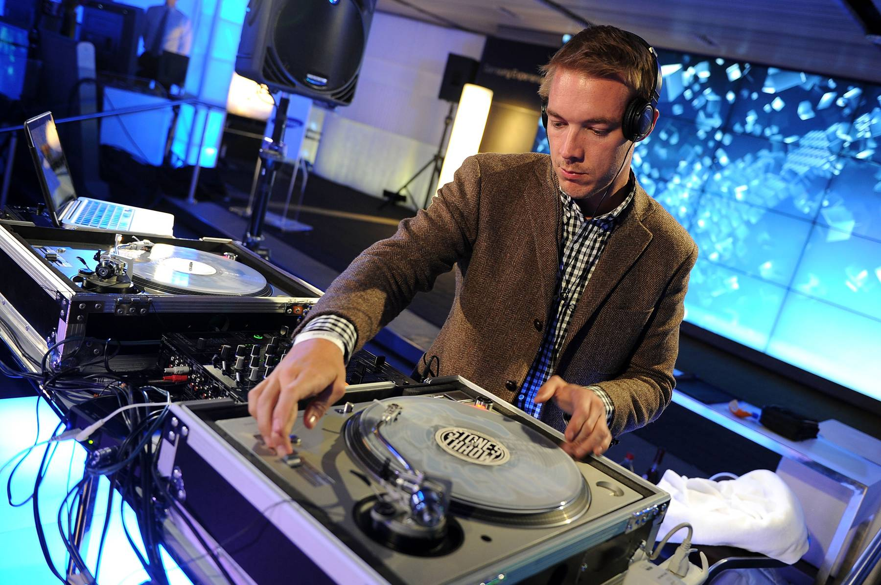 39. Diplo - Among the world's most in-demand party rockers, Diplo has led the recent line-blurring between dance music and hip hop. His mixtapes launched the careers of M.I.A. and Santigold, and his production bolstered hits by Chris Brown, Usher, Beyonc? and more.  (Photo: Theo Wargo/Getty Images for Samsung)