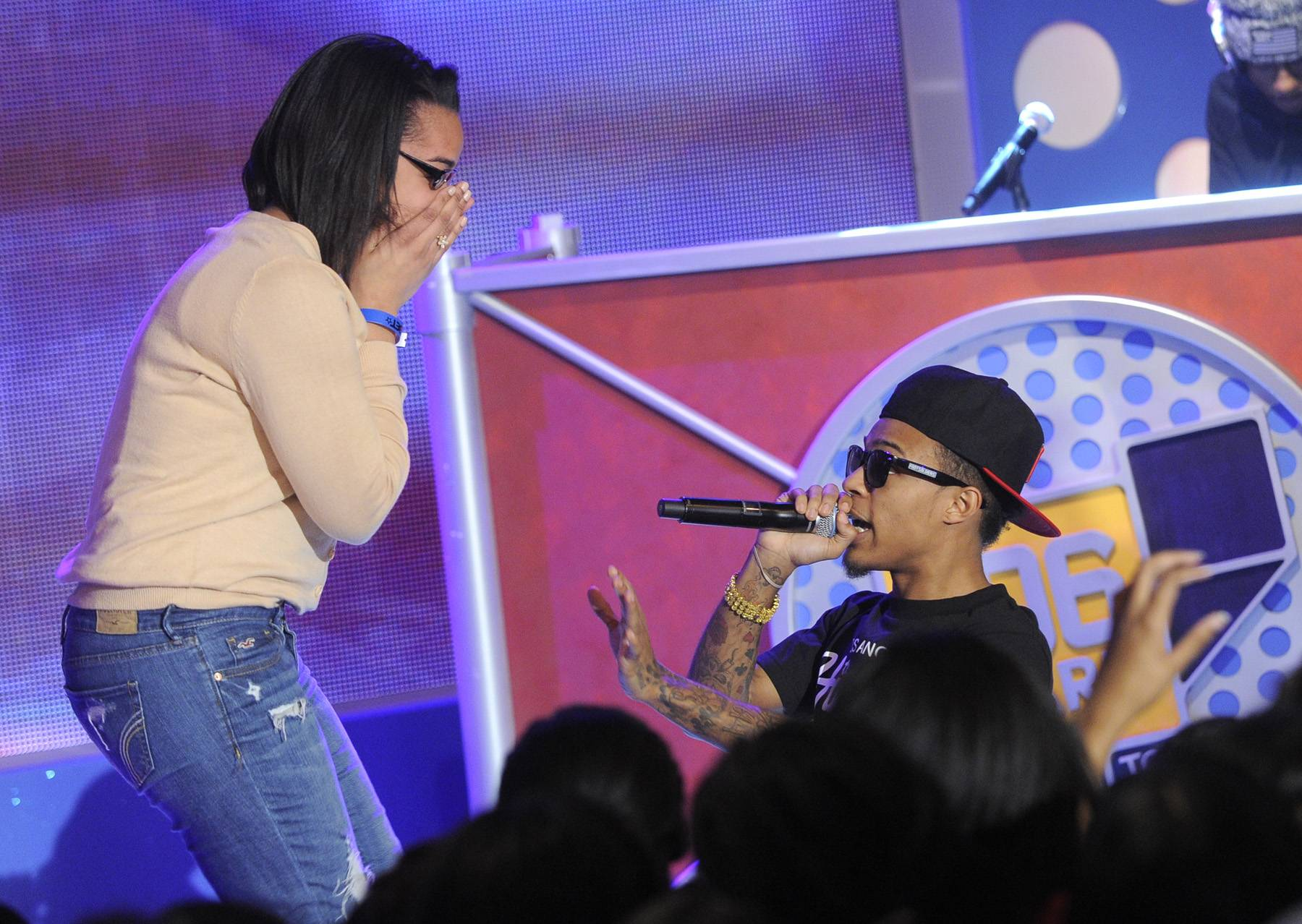 On My Knees\r - Bow Wow on set at BET's 106 & Park. (Photo: John Ricard / BET)
