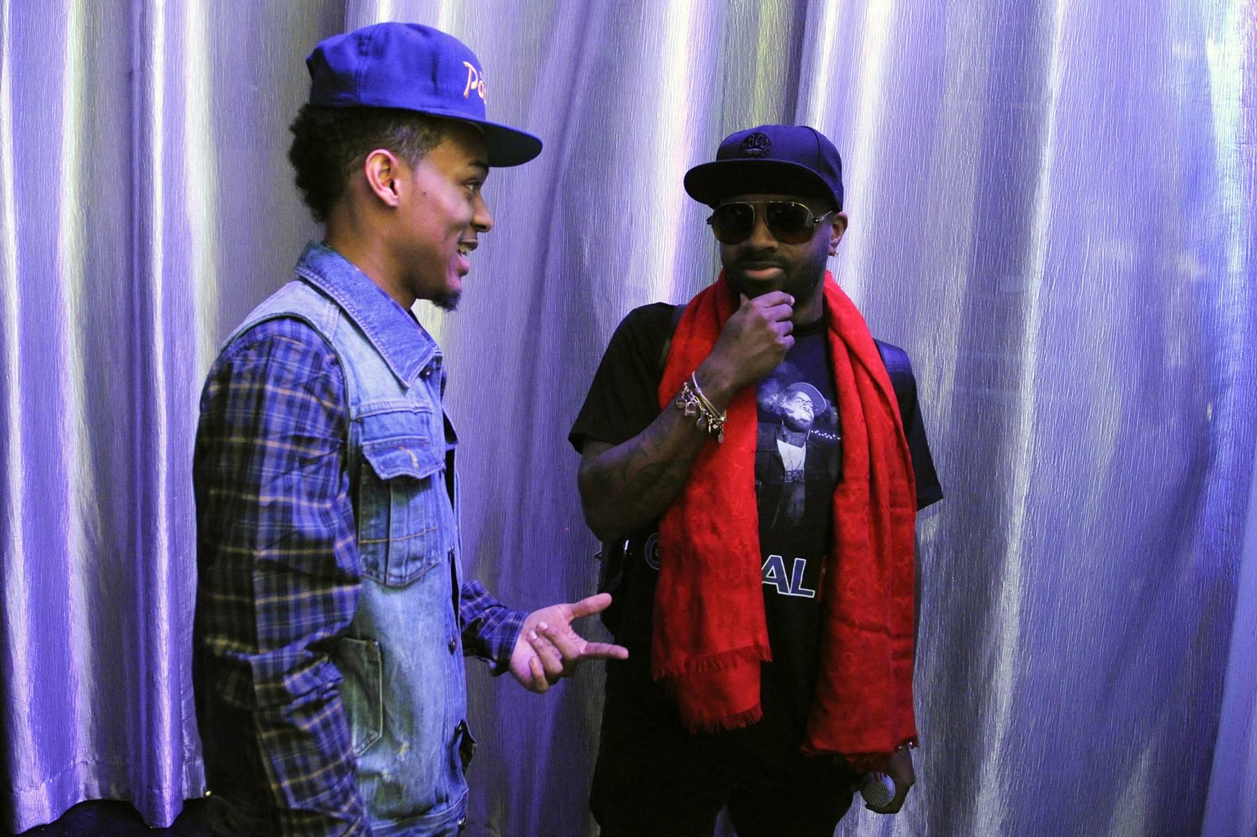 Big Bro - Bow Wow and Jermaine Dupree backstage at 106 & Park, January 23, 2012. (Photo: John Ricard / BET)