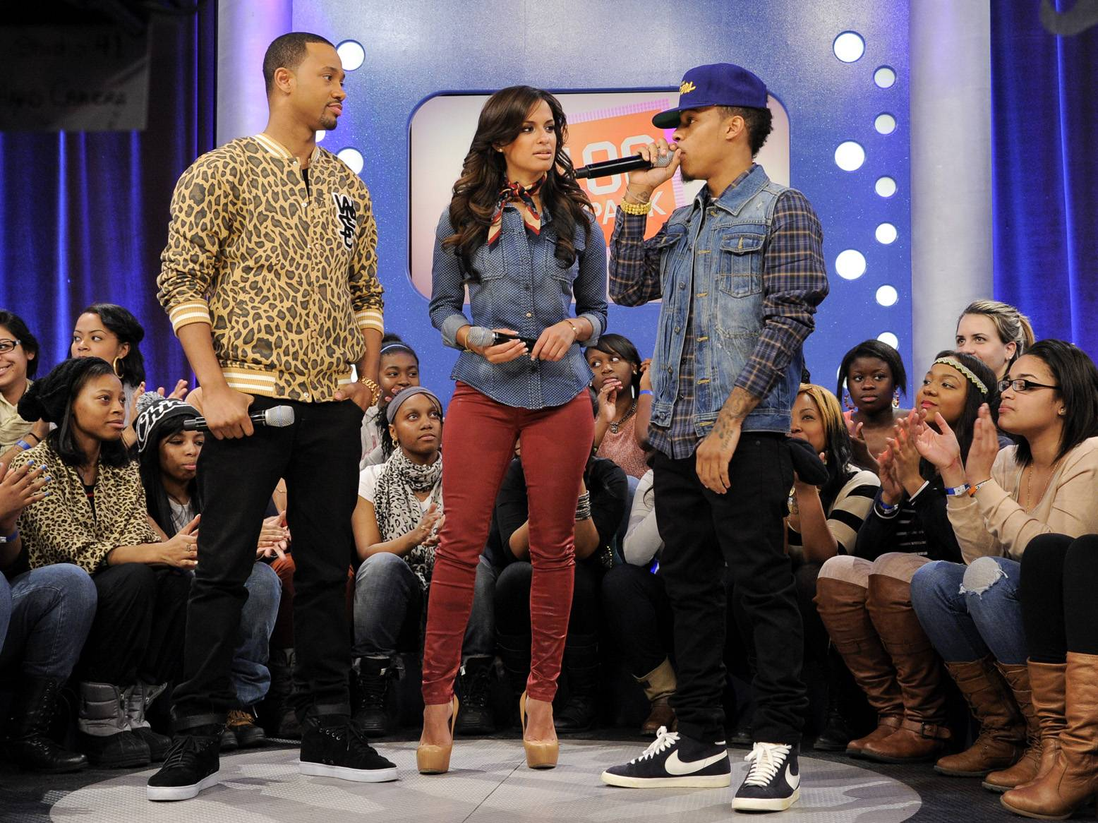 I'm Underrated\r - Bow Wow on set at BET's 106 & Park. (Photo: John Ricard)