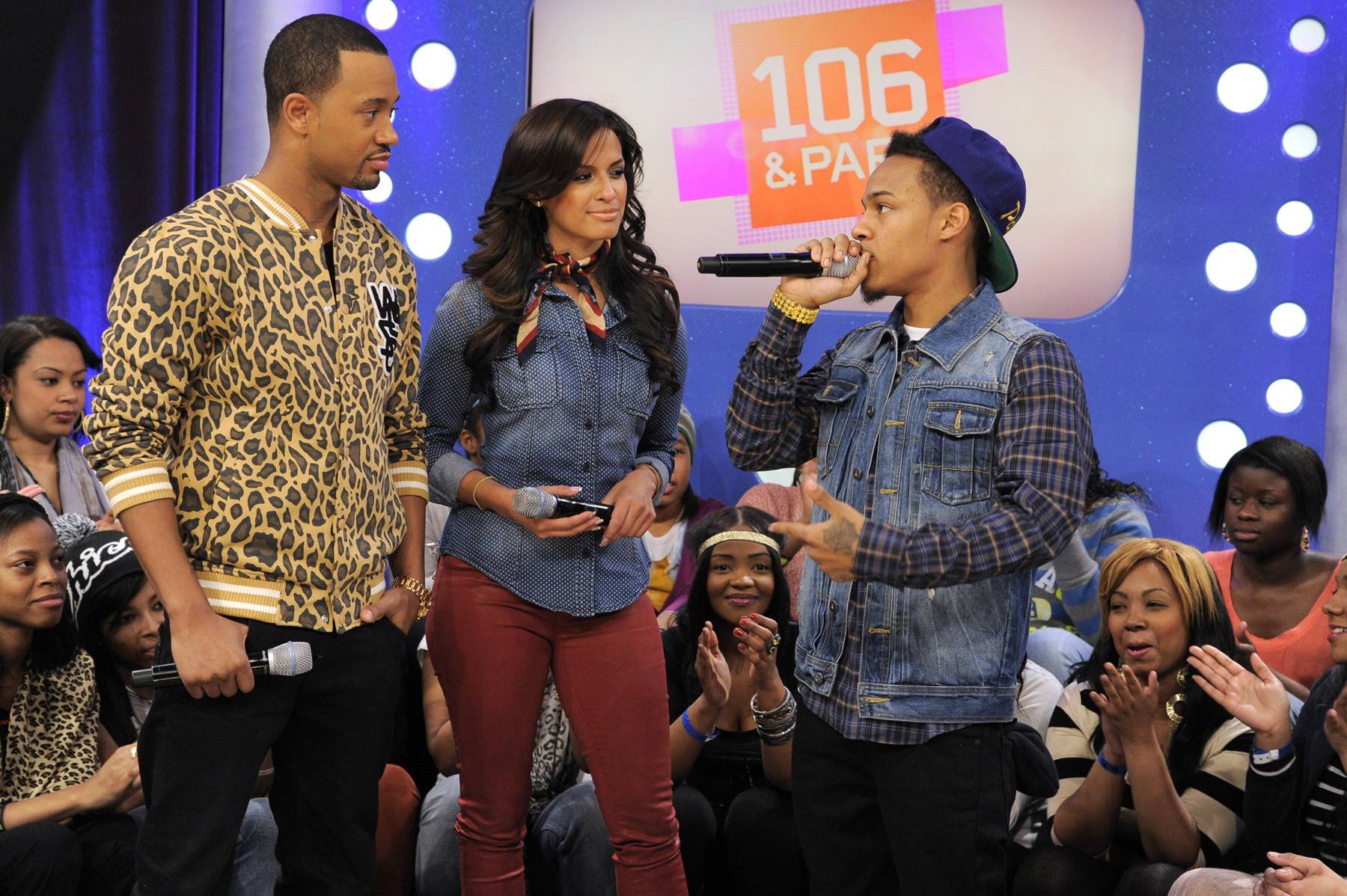 I Got This - Bow Wow with Terrence J and Rocsi Diaz at 106 & Park, January 23, 2012. (Photo: John Ricard / BET)