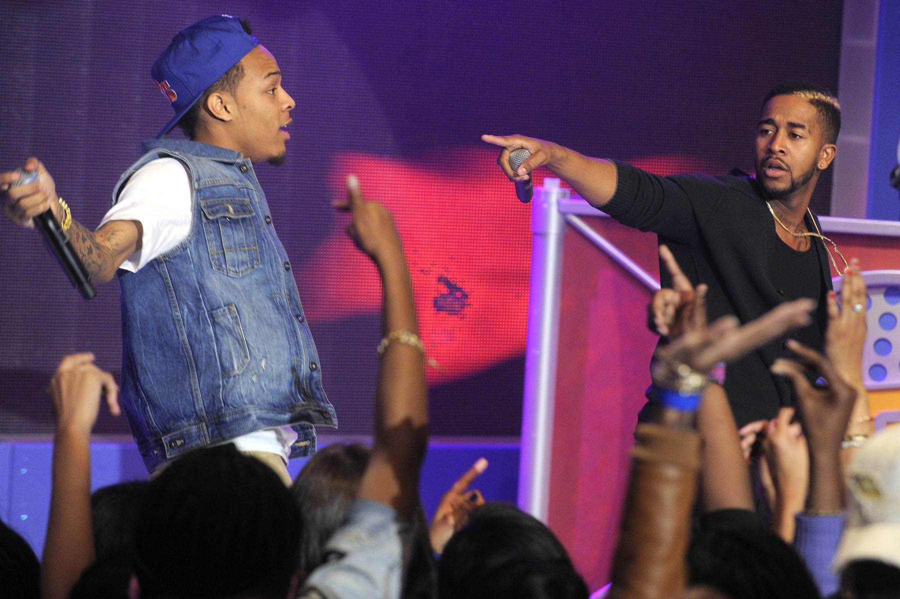 """Dynamic Duo - In 2007, Bow Wow and Omarion teamed up for a Best of Both World-type collaboration. They released Face Off, which, with the help of the hits """"Girlfriend"""" and """"Hey Baby,"""" was certified gold.(Photo: John Ricard / BET)"""