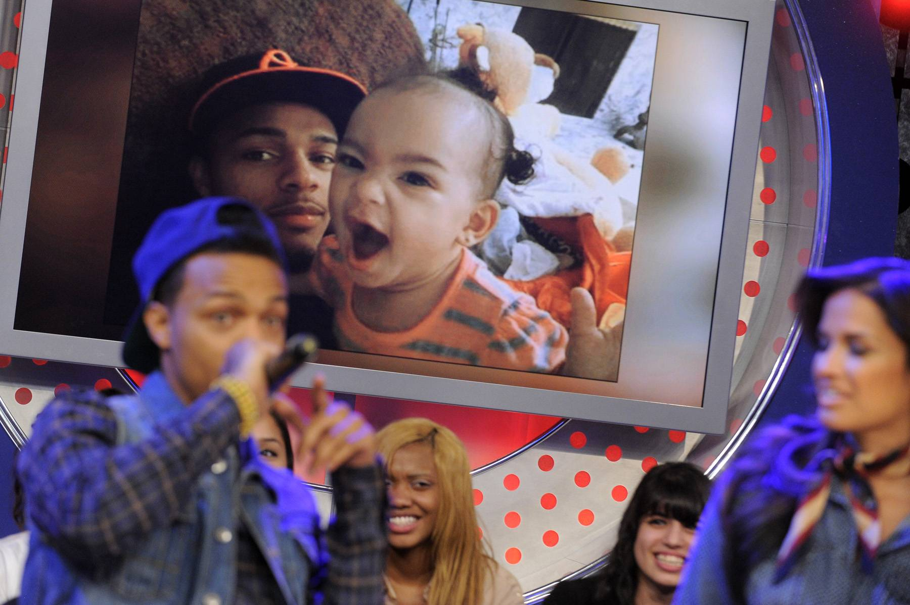 I Love My Baby - Bow Wow, at 106 & Park, tells the audience how having a daughter has made him kinder to women. January 23, 2012. (Photo: John Ricard / BET)