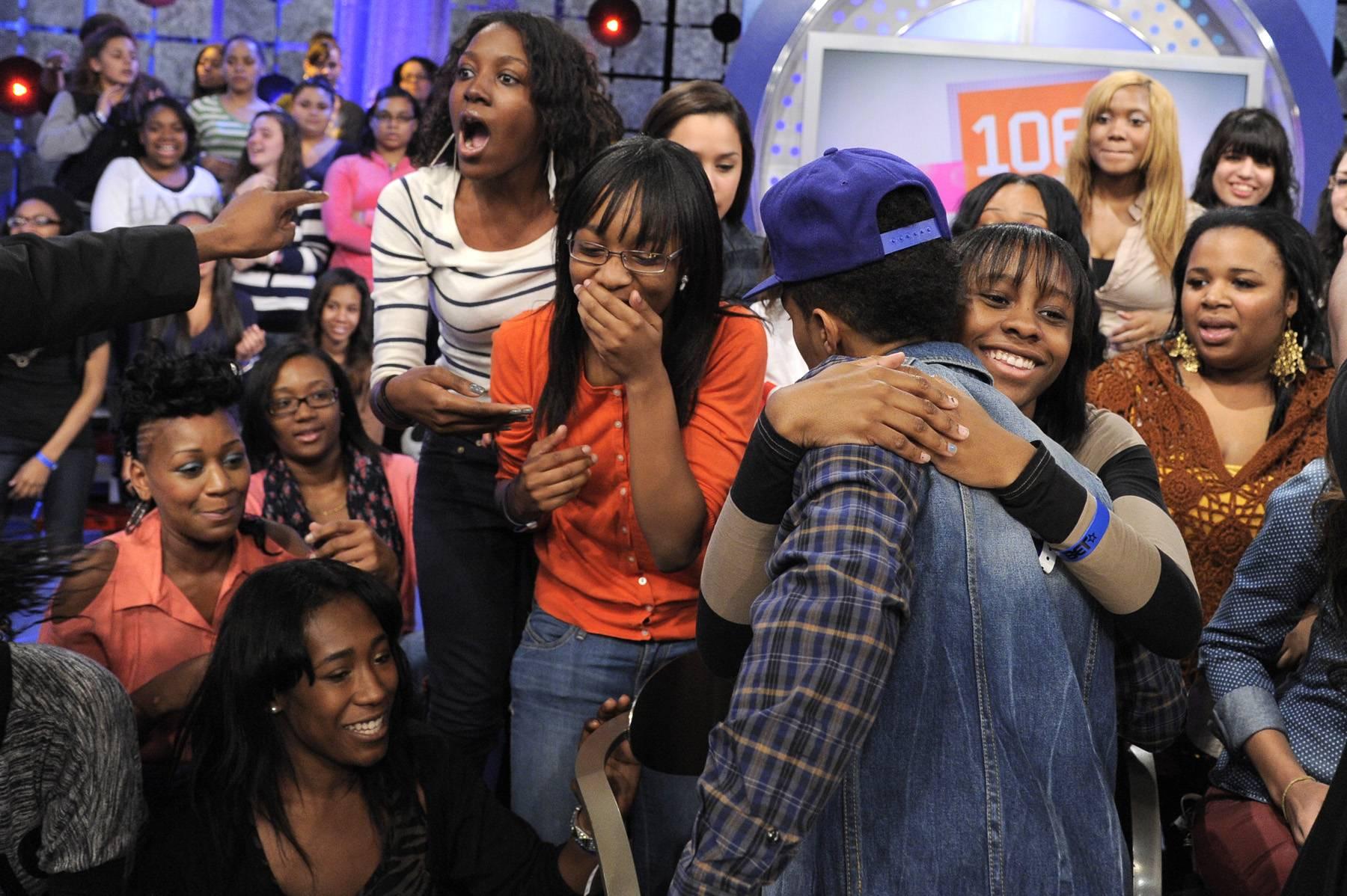 Love You - Bow Wow, aka Mr. 106 & Park greets fans at 106 & Park, January 23, 2012. (Photo: John Ricard / BET)