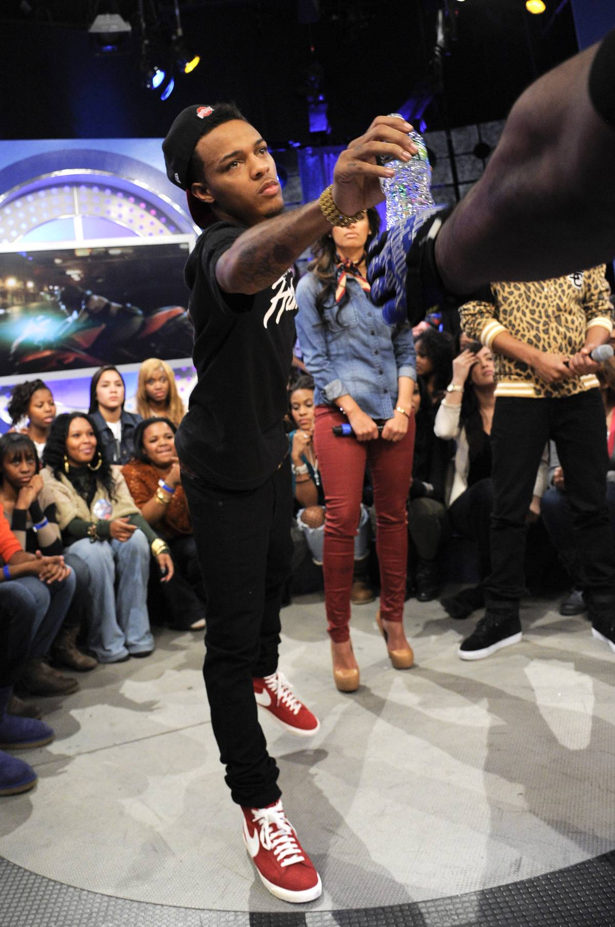 Reach Out and Touch - Bow Wow during a commercial break at 106 & Park, January 23, 2012. (Photo: John Ricard / BET)