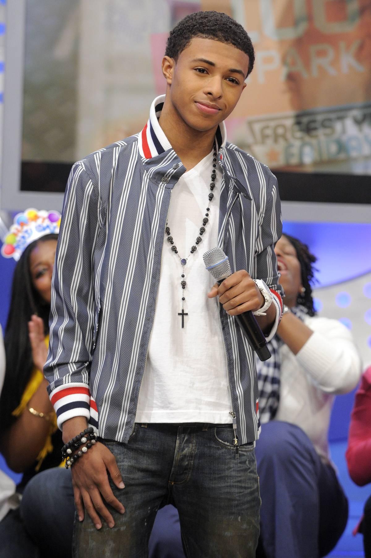 Laid Back - Diggy Simmons at 106 & Park, January 20, 2012. (Photo: John Ricard / BET)