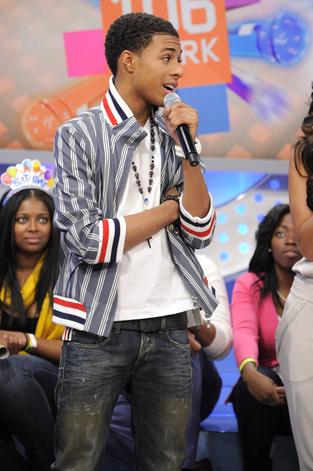 Ready for the World - Diggy Simmons at 106 & Park, January 20, 2012. (Photo: John Ricard / BET)