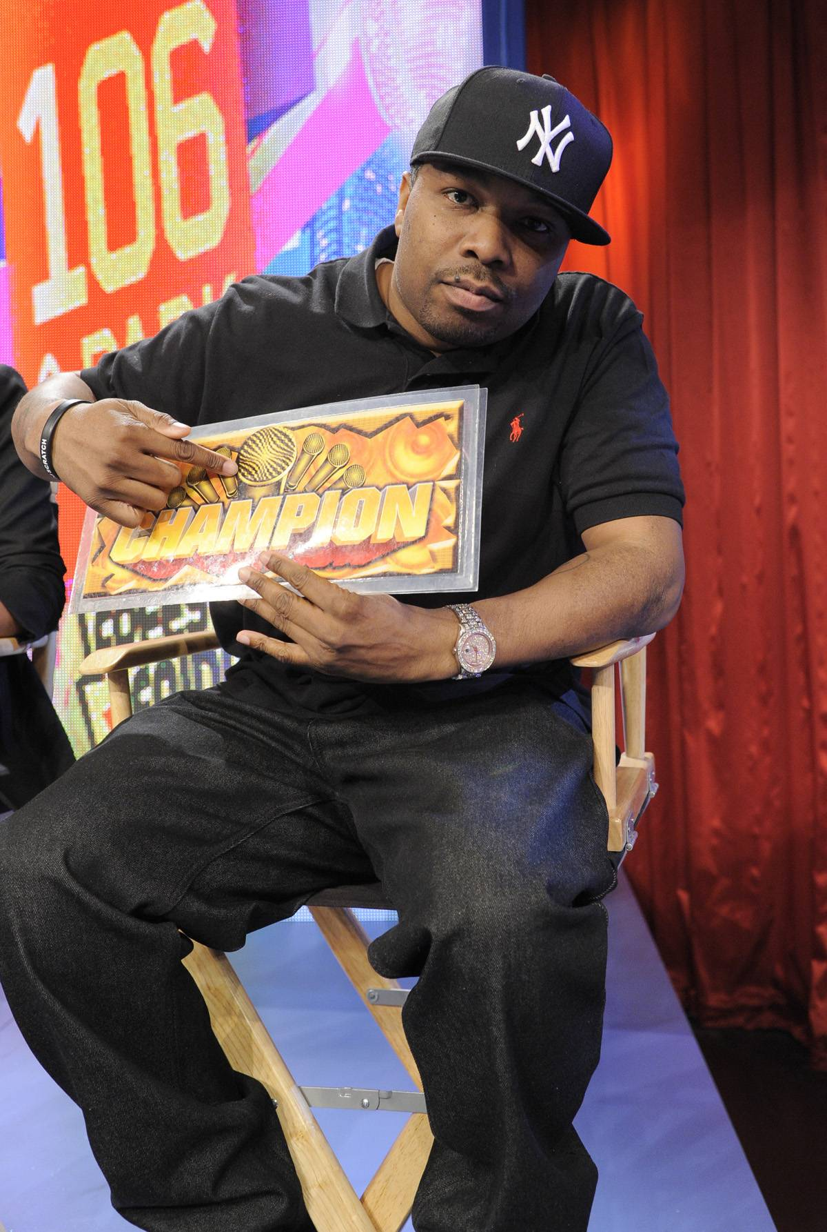Let's See Who Won - Freestyle Friday judge DJ Scratch at 106 & Park, January 20, 2012. (Photo: John Ricard / BET)