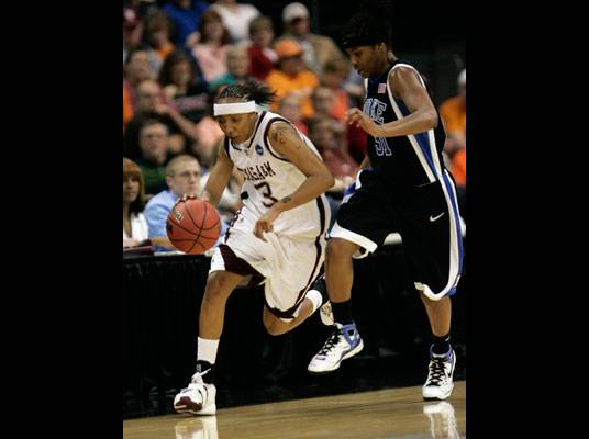Fact #7 - Takia led the nationally-ranked Aggies in scoring the last two seasons.