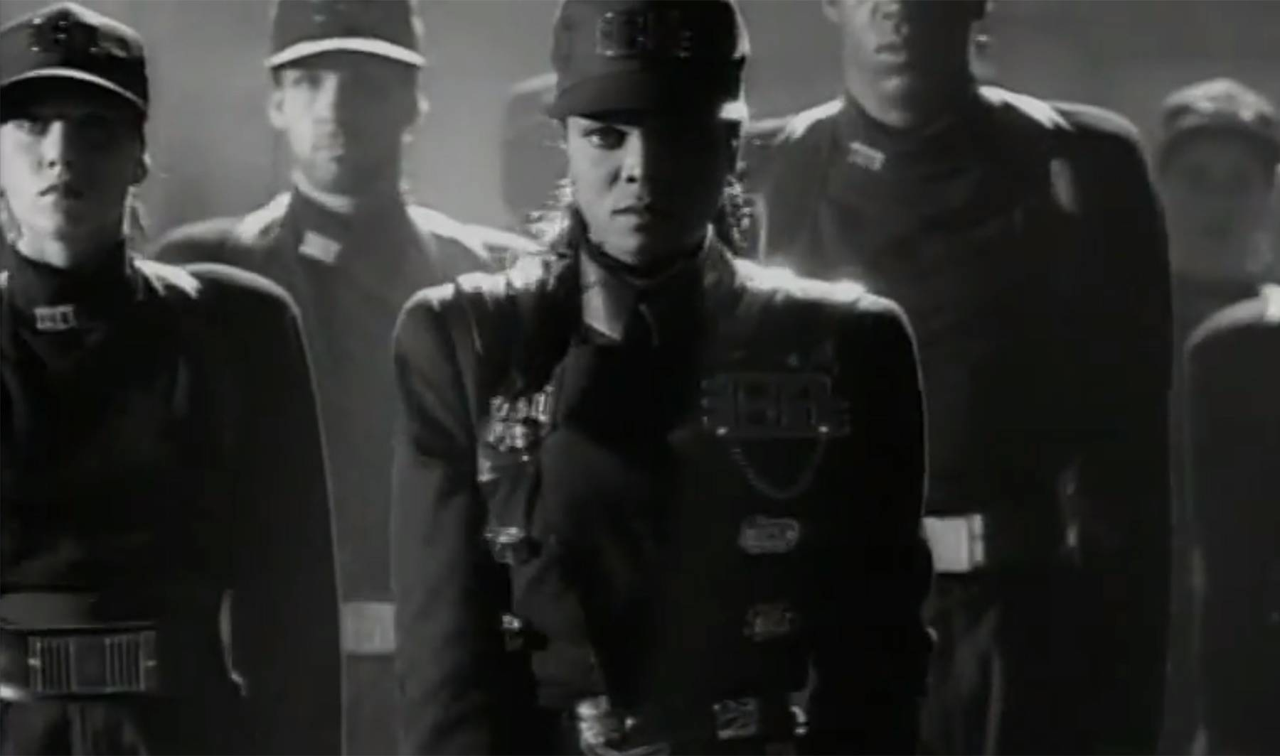 """Rhythmic Fashion - The video for """"Rhythm Nation"""" was unlike any before, and so was the fashion. That military jacket and hat will always have a special place in our hearts!(Photo: A&M Records)"""