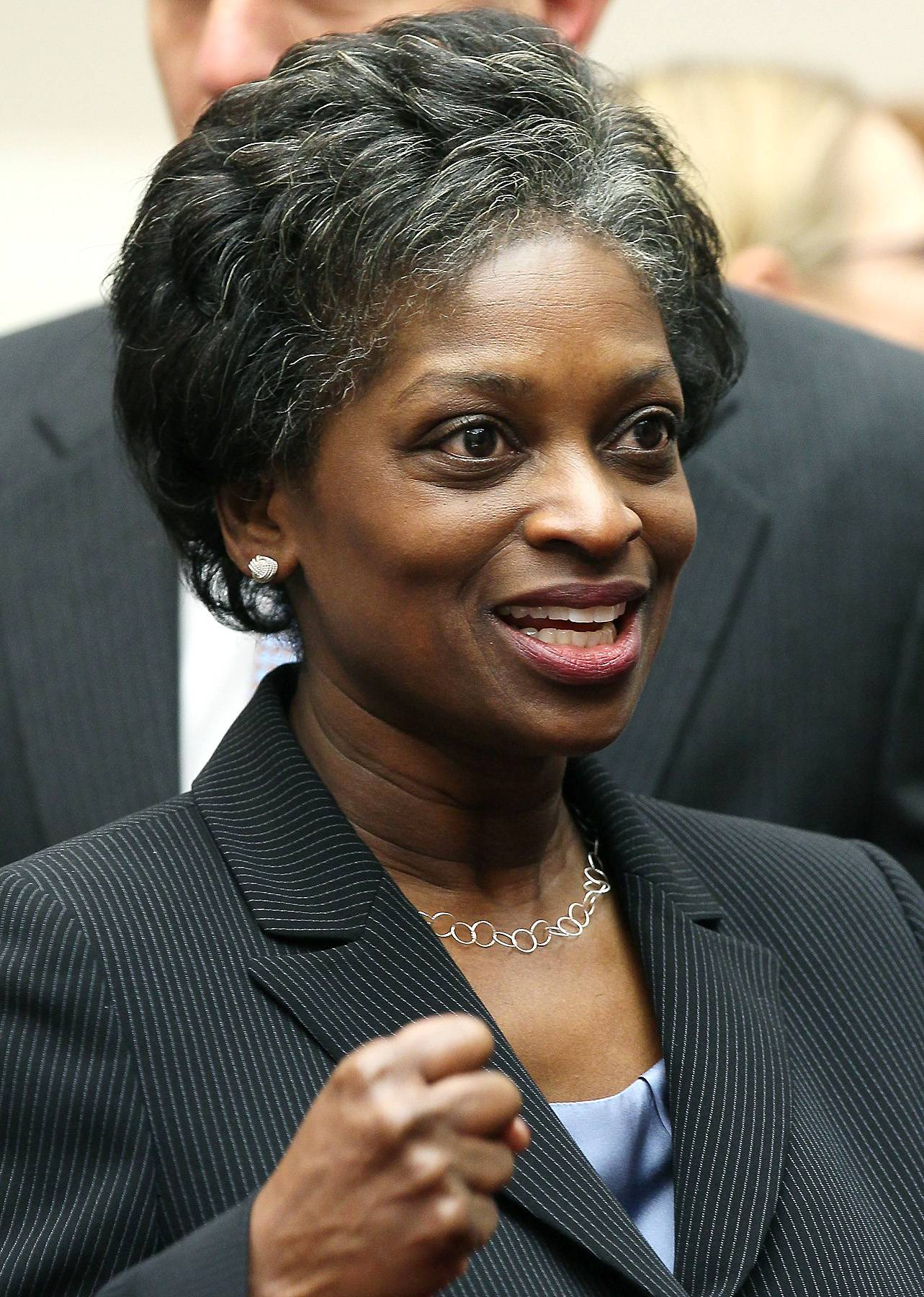 Mignon Clyburn - Mignon Clyburn is a Democratic member of the Federal Communications Commission, which has regulatory power over the nation's most important media, communications and technology companies. When FCC chairman JuliusGenachowski steps down in June, rumor has it, Clyburn, daughter of the House's third-top Democrat Rep. James Clyburn, could be named acting commissioner.  (Photo: Mark Wilson/Getty Images)