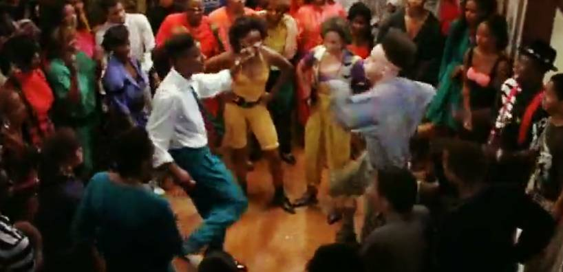The Kid 'n Play - Christopher Reid and Christopher Martin (of the Bronx and Queens, respectively) had everyone jumping around after they debuted their two-person dance in the 1990 blockbuster House Party.(Photo: New Line Cinema)