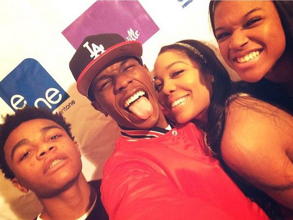 The Clan - The Nellyville clan has fun at the premiere party.   (Photo: LIL SHAWN via Instagram)