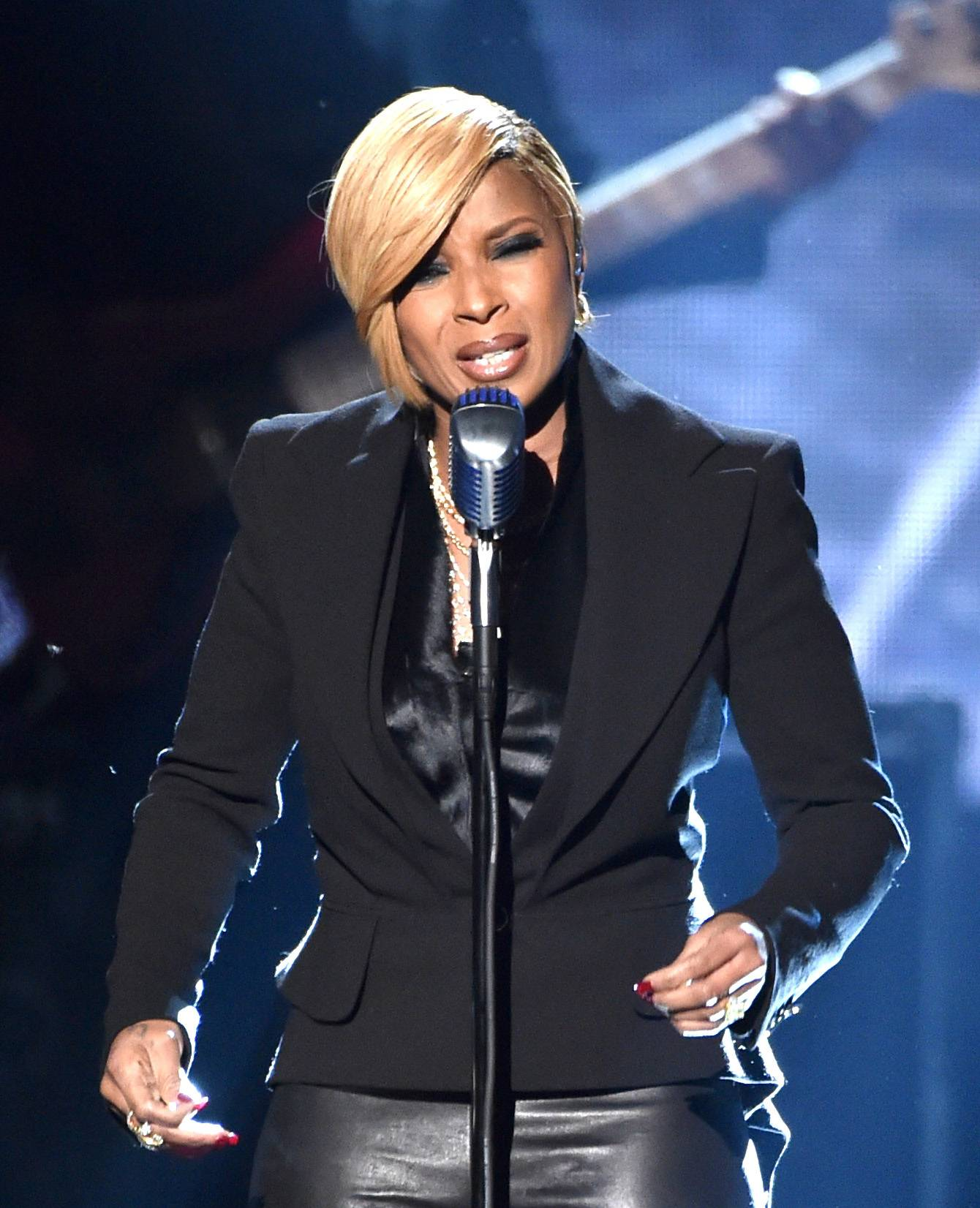 """Mary J. Blige - Queen Of Hip Hop Soul Mary J. Blige just dropped her new single """"Whole Damn Year"""" off of her latest album, The London Sessions. Let's see if she is going to be performing something new from the album. Fingers crossed! (Photo: Kevin Winter/Getty Images)"""