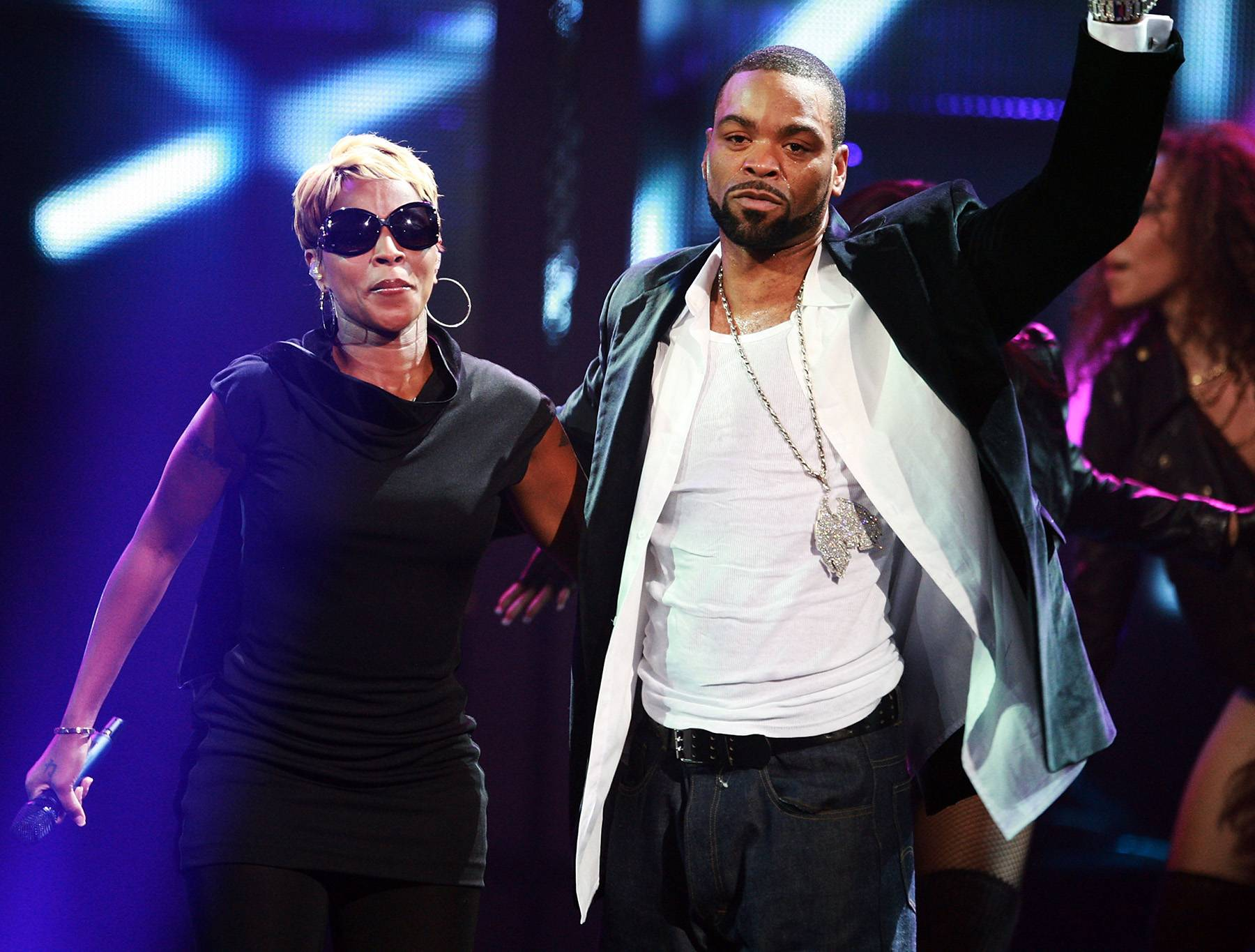 """Mary J. and Method Man - Mary J. Blige and Method Man's """"I'll Be There for You/You're All I Need to Get By"""" took the concept of the hip hop ballad over the top. It's still regarded as one of the most classic hip hop songs of all time.   (Photo: Stephen Lovekin/Getty Images)"""