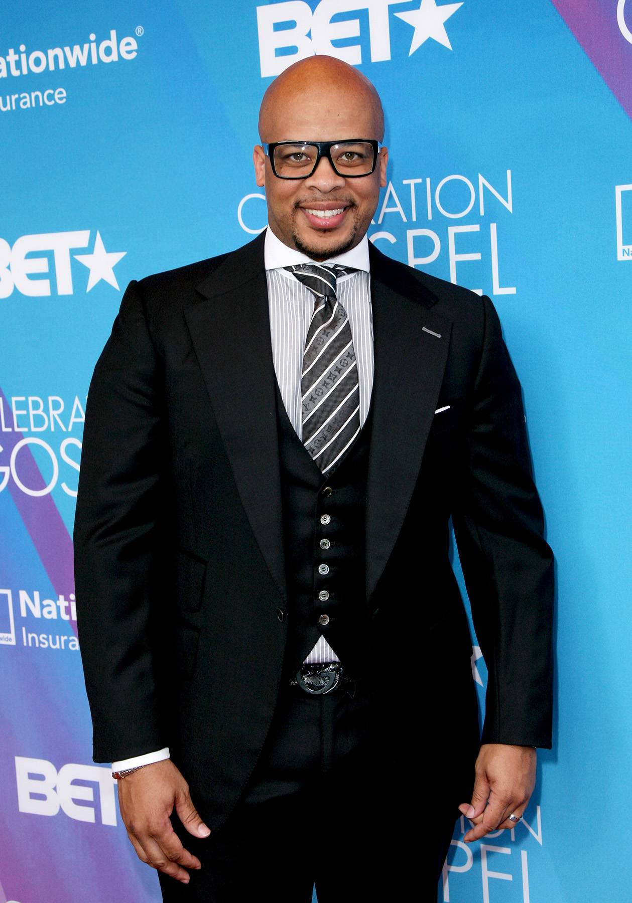 James Fortune  - James Fortune is a two-time Grammy Award-nominated gospel artist, songwriter and producer. If you're listening in to 1190 AM WLIB, you'll catch him as a radio personality too! (Photo: Maury Phillips/Getty Images for BET)
