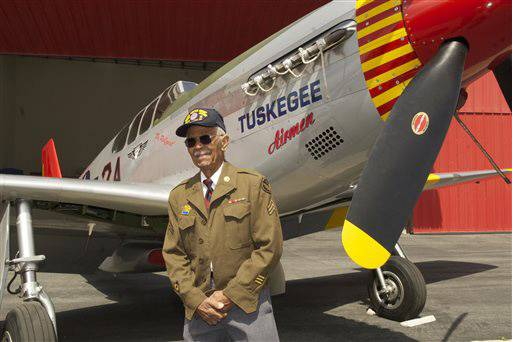 Two Tuskegee Airmen Pass On - Two members of the Tuskegee Airmen who were lifelong friends died on the same day, according to the New York Daily News. The men, who enlisted together, died on January 5 in their respective Los Angeles homes. They were both 91. Rest in peace.   (Photo: AP Photo/Bruce Talamon)