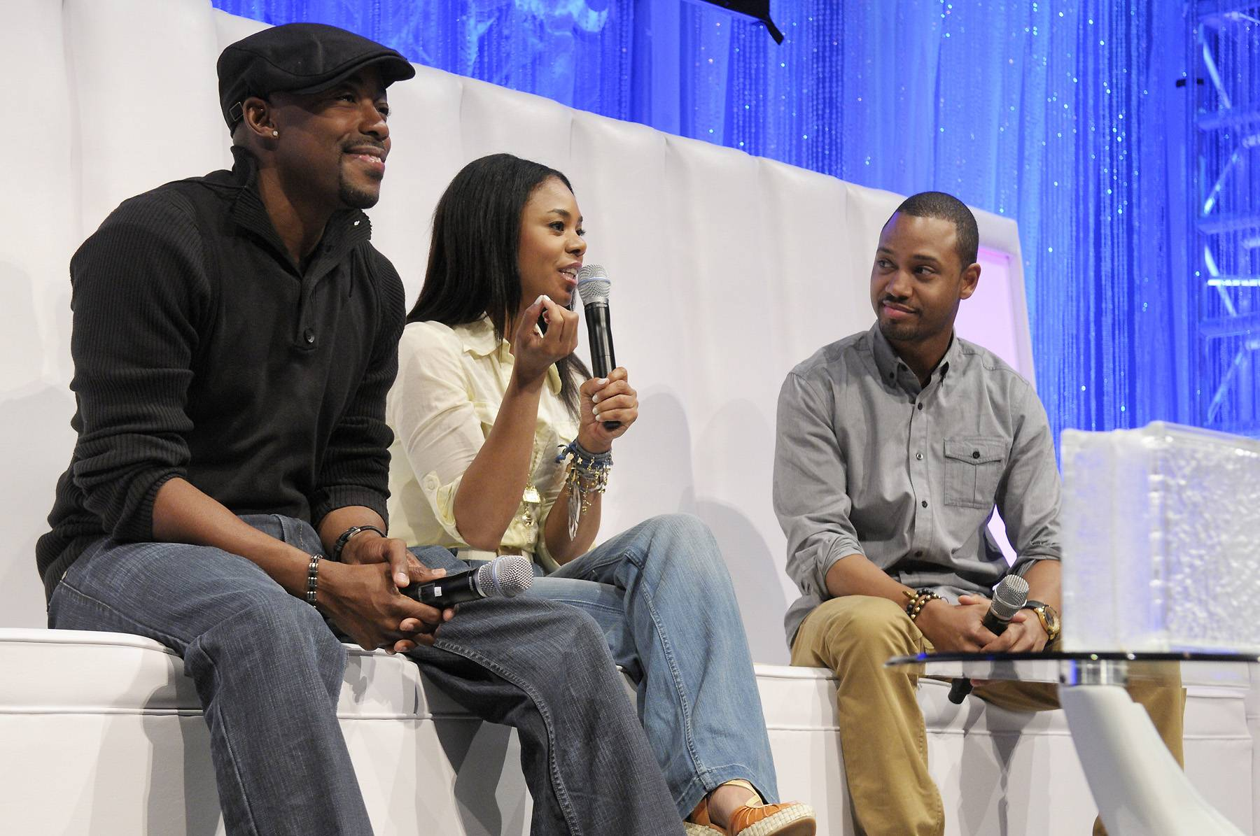 Words of Wisdom - In the first session, actress Regina Hall and movie producer and director Will Packer shared with the Dreamers their inspirational stories about how they broke into Hollywood and talked about their new movie, Think Like a Man, out April 20.  (Photo: Phelan Ebenhack)