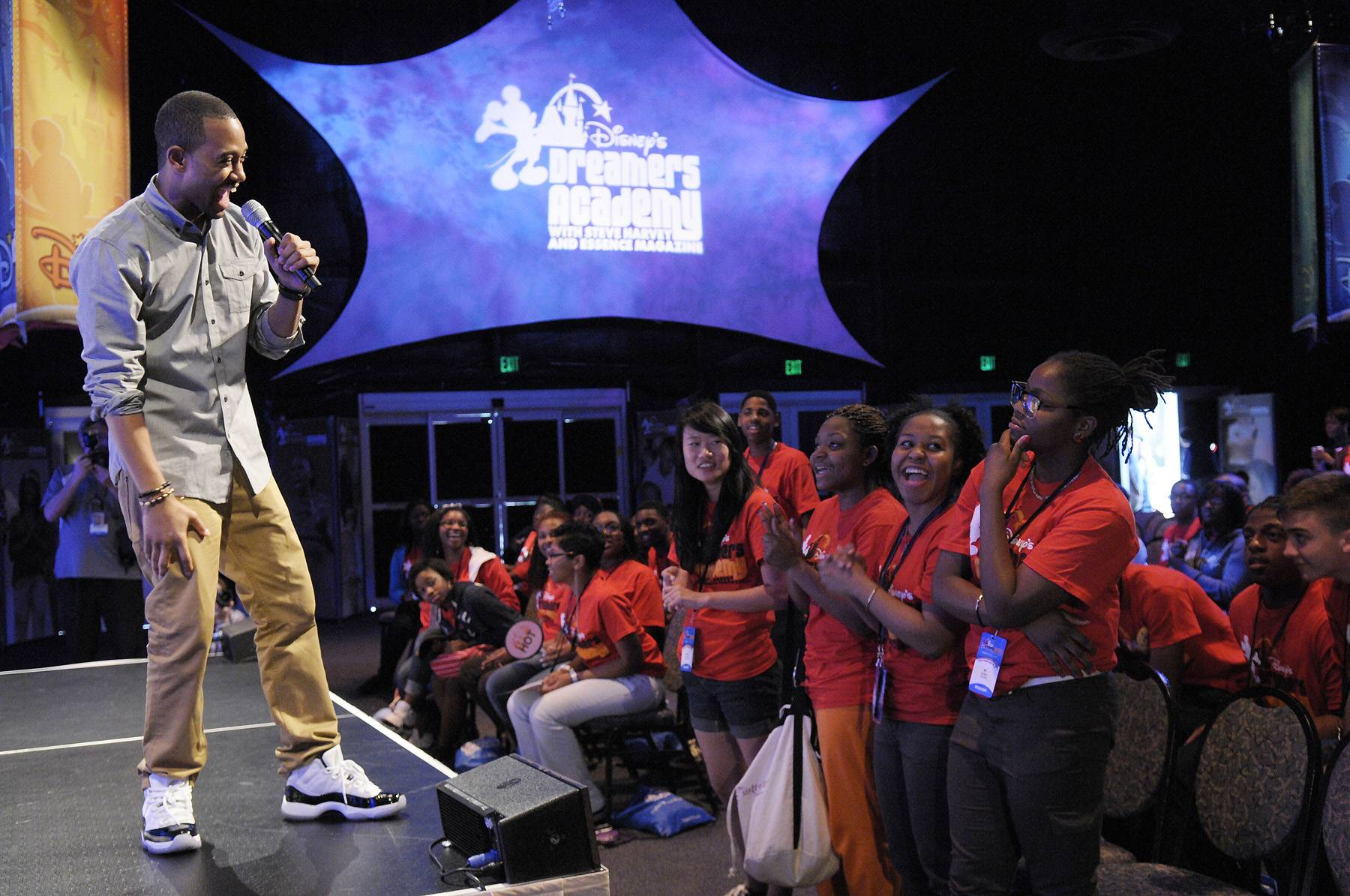 Terrence J, Host, 106 & Park - ?Dream big. If you dream small, small things will happen. If you dream big, big things will happen.?  (Photo: Phelan Ebenhack/Disney)