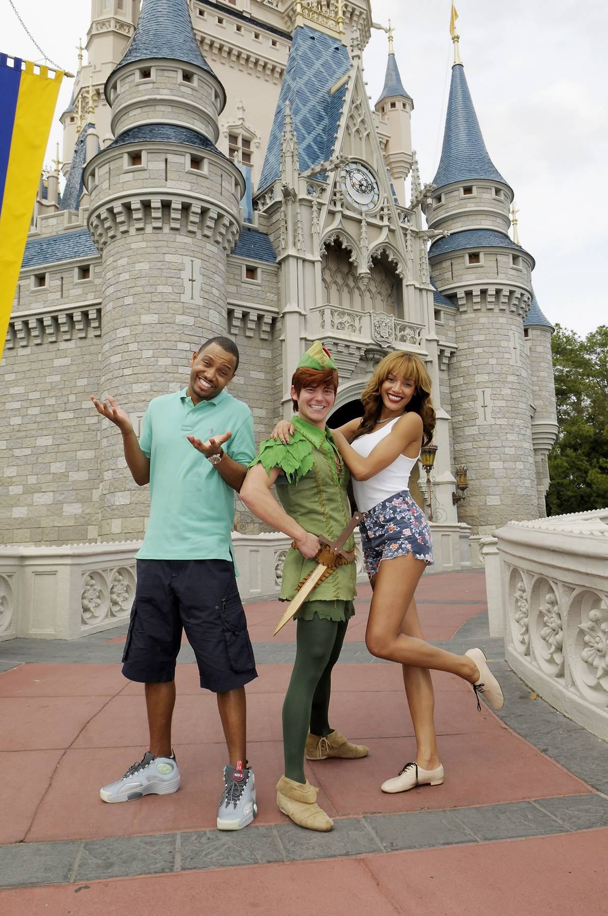 Magical Moment - Terrence J and supermodel Selita Ebanks were enchanted by Peter Pan while visiting the Magic Kingdom during the Dreamers Academy on March 9.  (Photo: Phelan Ebenhack)