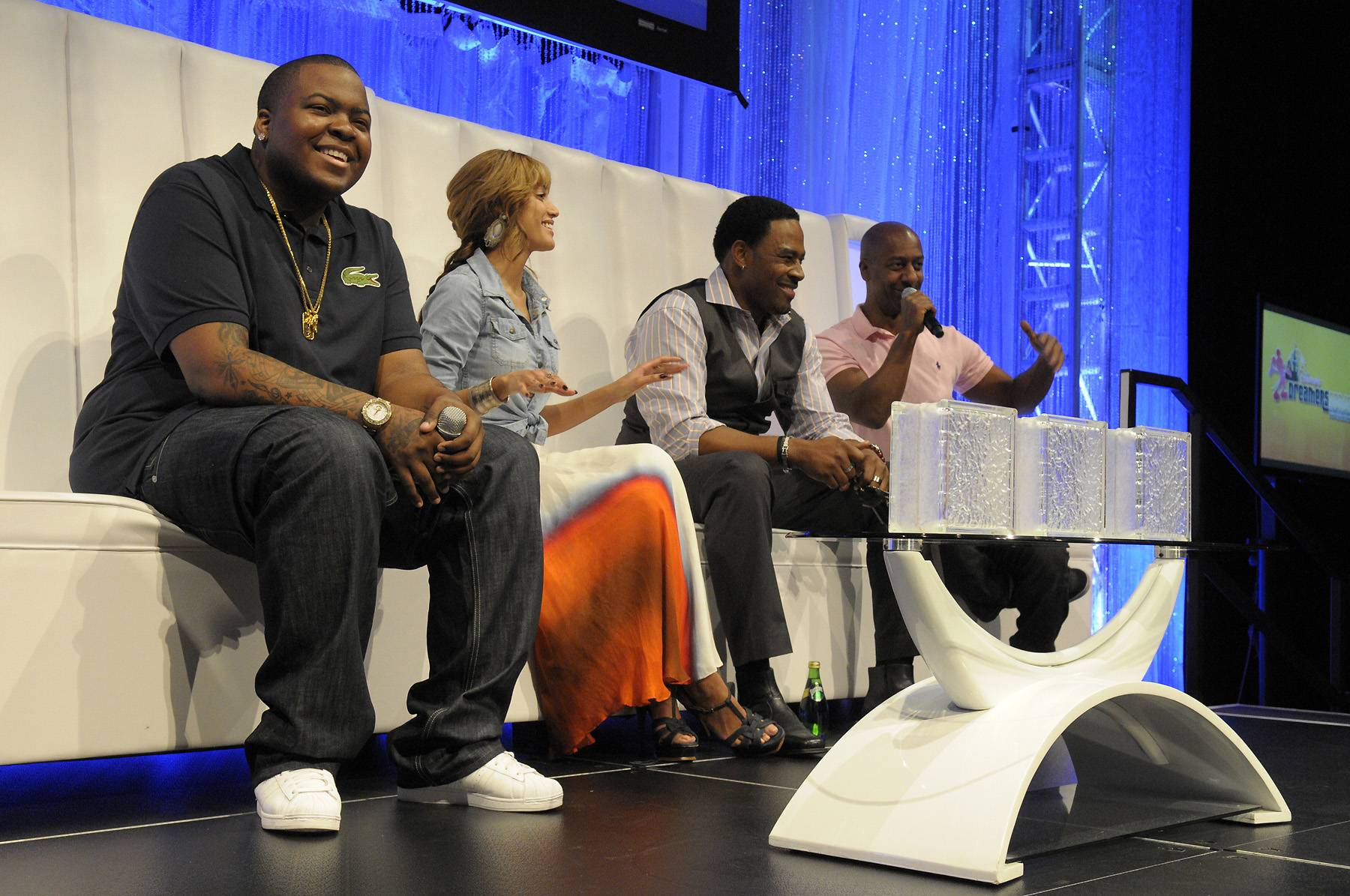 Power Meeting - Supermodel Selita Ebanks, recording star Sean Kingston, actor Lamman Rucker and BET Networks President Stephen Hill participated in the second session of the ?Conversations? panel. (Photo: Phelan Ebenhack)