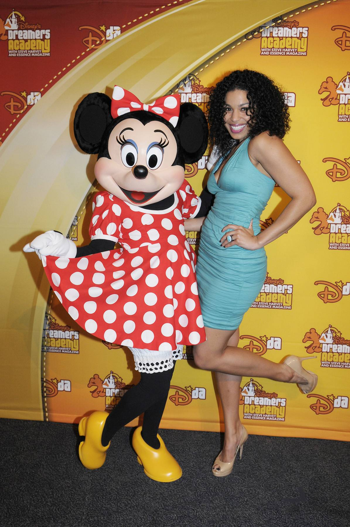 """Famous Friends - After dazzling the Dreamers with her hit """"One Step at a Time,"""" Jordin Sparks rubs elbows with Minnie Mouse during the Dreamers Academy commencement ceremony on March 11. (Photo: Phelan Ebenhack)"""