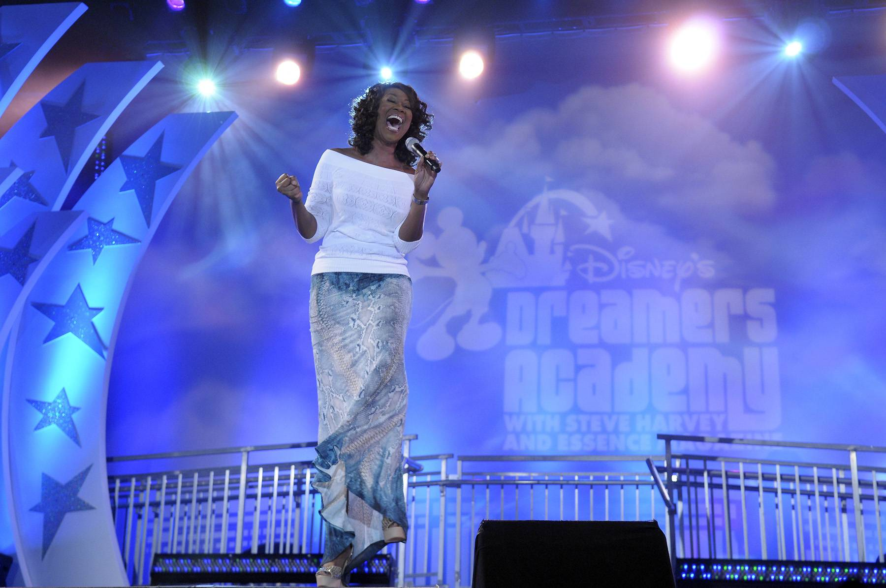 Uplifting Voice - Gospel singer Yolada Adams closed the Dreamers Academy on March 11 with a stirring performance.(Photo: Phelan Ebenhack)