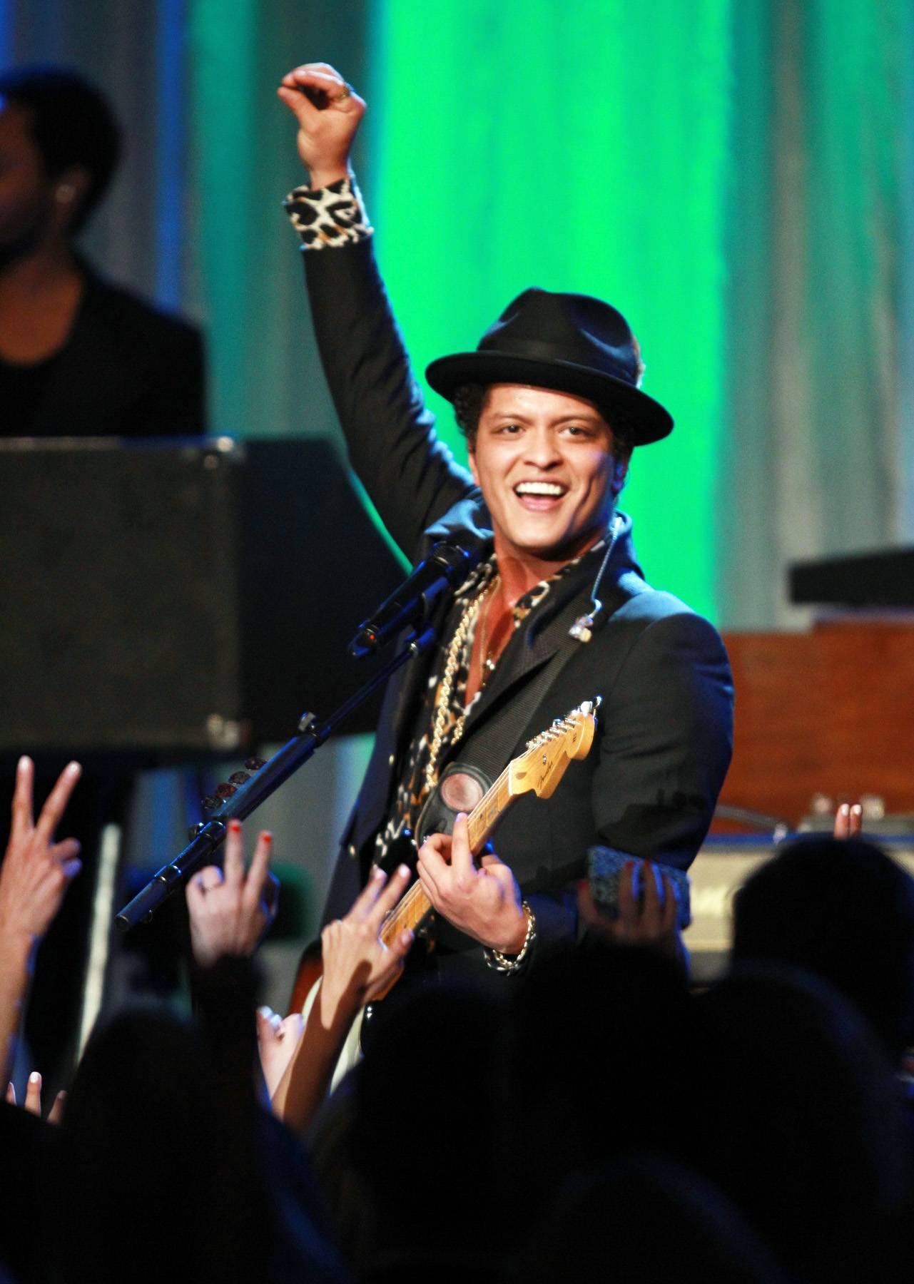 Best R&B/Soul Male Artist: Bruno Mars - Bruno Mars continued his musical winning streak with an eclectic mix of retro-influenced R&B, pop and dance hits. (Photo: Joe Scarnici/Getty Images for EIF)