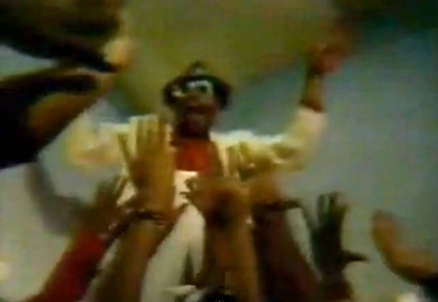 """Grandmaster Melle Mel: """"White Lines"""" - While still a student at New York University, Leefilmed this unofficial video for rap pioneer Melle Mel's1983 anti-cocaine classic """"White Lines."""" Amidst the modern dancers kicking, spinning and sniffing white lines, actor Laurence Fishburne stars as the drug dealer supplying the powder.  (Photo: Sugar Hill Records)"""