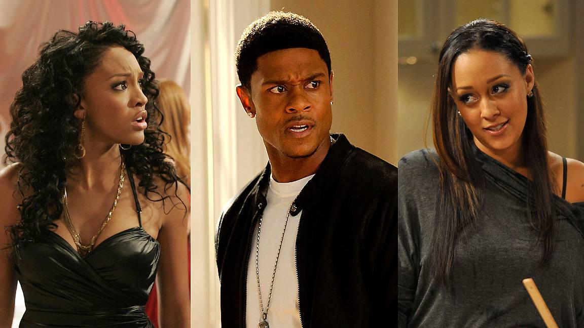 Drew, Derwin and Melanie in The Game - The various make-ups and break-ups between Melanie and Derwin initially started with Derwin's affair with Drew. To be frank, there were several other parties involved but it was convenient to leave it at just these three since they were the catalysts. Life can be hard in professional football. (Photos from left: The CW/Scott Humbert /Landov, Paul Abell/PictureGroup, Paul Abell/PictureGroup)