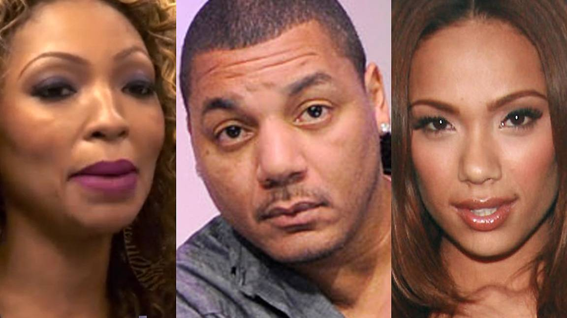 Erica, Rich and Tiffany of Love & Hip Hop - To sum it up: Tiffany is the scorned lover trying to win Rich back, so she does so by sleeping with Erica to spy on her for Rich. Erica ends up beating Tiffany up and Rich ends up puzzled. They?re all single.    (Photos from left: VH1, John Ricard / BET, WENN.com)