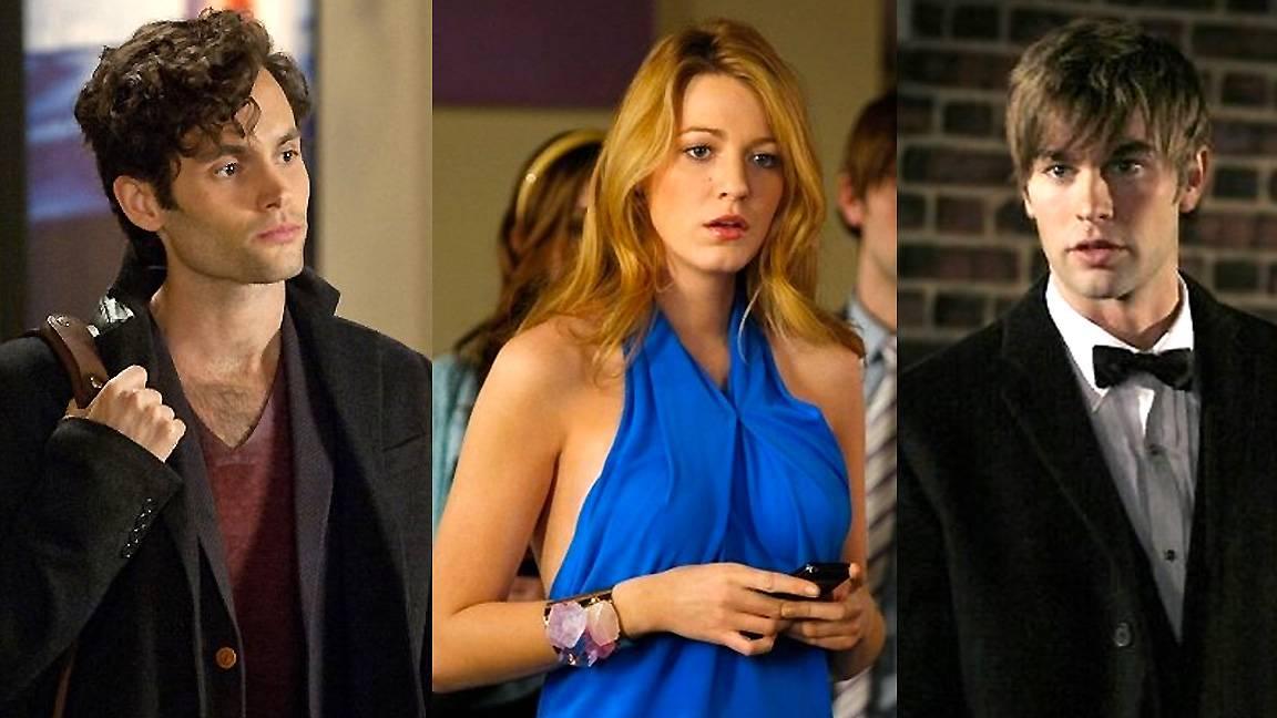 Dan, Serena and Nate in Gossip Girl