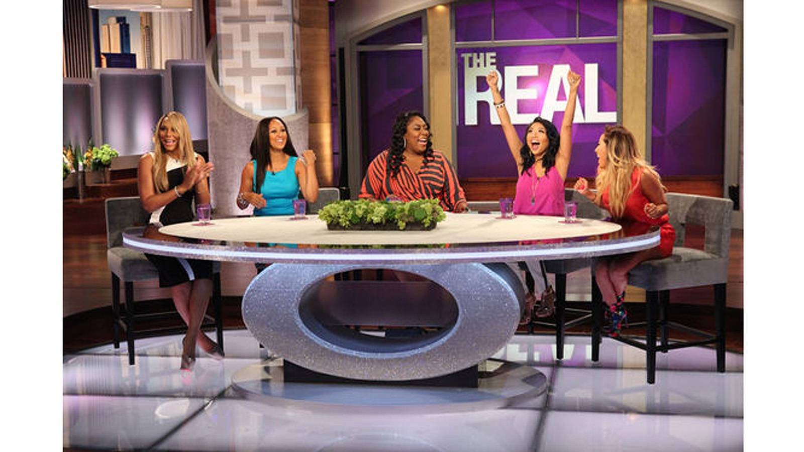 The Real - Tamar Braxton, Loni Love, Adrienne Bailon, Jeannie Mai and Tamera Mowry-Housley are the out-spoken and lovely hosts of The Real. The show allows women to discuss topics spanning from personal experiences to the news of the day to beauty, fashion and relationships. (Photo: Courtesy of Fox)