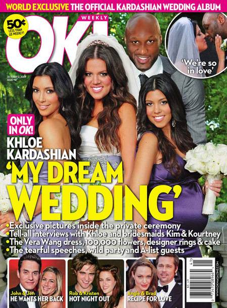 A Wedding Made for Reality TV - After 32 days of dating, Odom and Keeping Up With the Kardashians star Khlo? Kardashian wed in September 2009. The lavish multi-million dollar wedding was televised on an episode of the hit reality TV show. Two-and-a-half years later, the newlyweds landed their own show, Khlo? and Lamar.(Photo: OK Magazine)