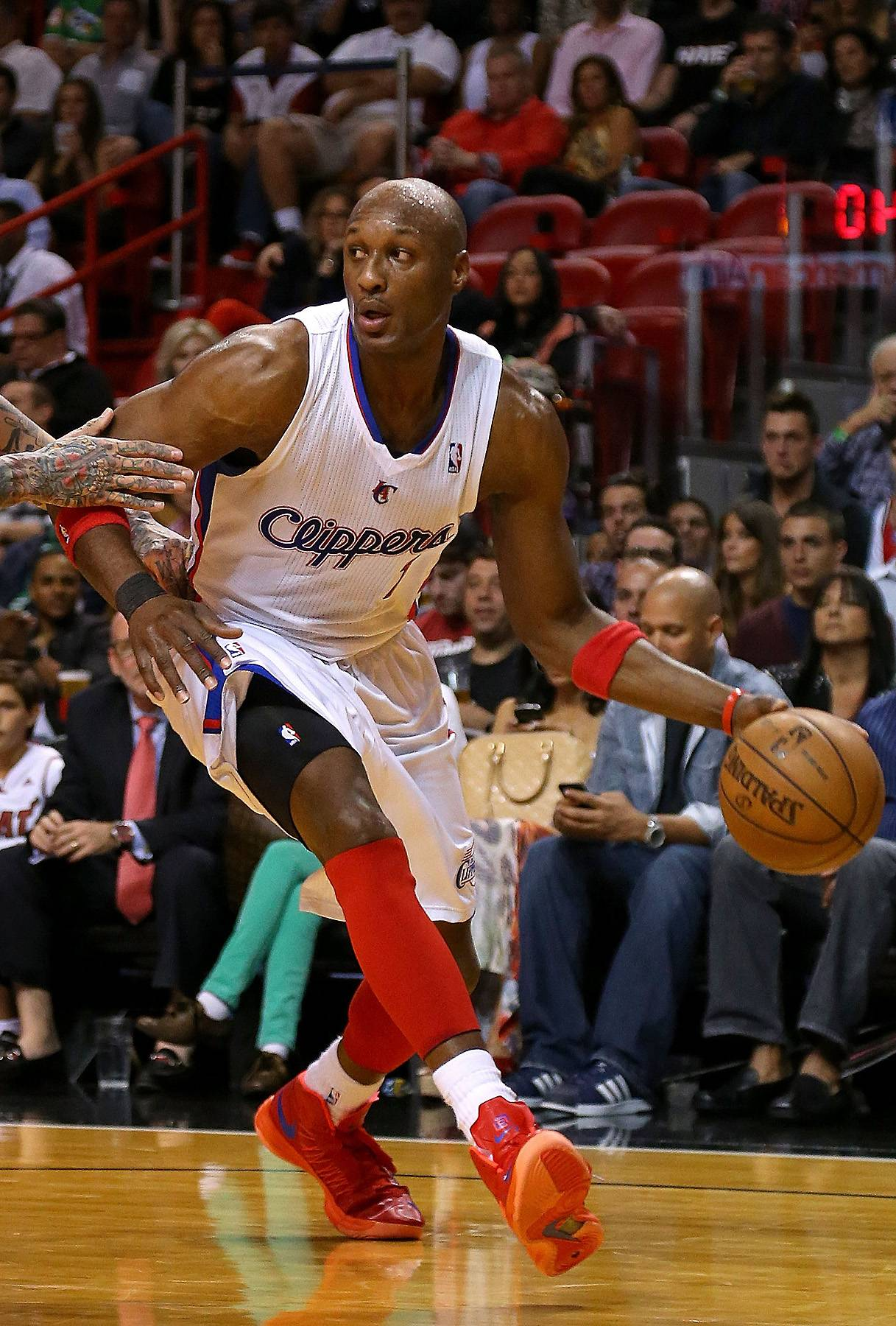 Back to the Clippers - After the career hiccup with the Mavericks, Odom became part of a four-team trade in 2012, which led him back to the Clippers. Following a dismal 2012-2013 season, however, the Queens, New York, native became a free agent again in 2013.(Photo: Mike Ehrmann/Getty Images)