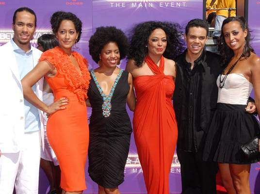 The Ross Family - Four of Diana Ross? children inherited their mother?s acting side. Daughter Rhonda has appeared in television movies and soap operas. Tracee is best known for her role as Joan on the sitcom, ?Girlfriends.? Chudney is active behind the scenes and has modeled, while son Evan has acted in movies like ?ATL? and ?Pride.?