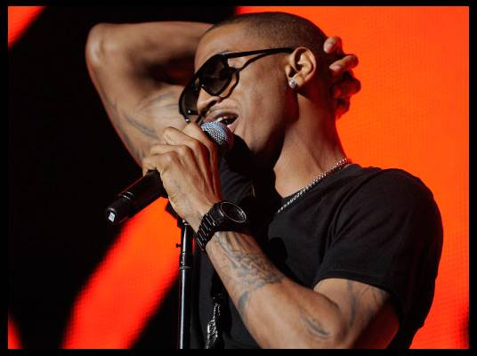 Trey Songz in L.A. - Trey brings R&B to the second half of the Blueprint 3 tour.
