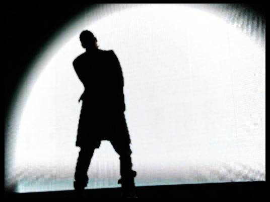 Trey Songz in L.A. - The spotlight is on Trey Songz as he hits the stage in Los Angeles, California.