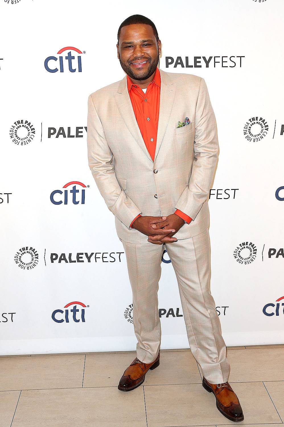 """Anthony Anderson - September 23, 2014 - Funnyman Anthony Anderson stopped by to talk new TV show """"Black-ish."""" Watch a clip now!  (Photo: Frederick M. Brown/Getty Images)"""