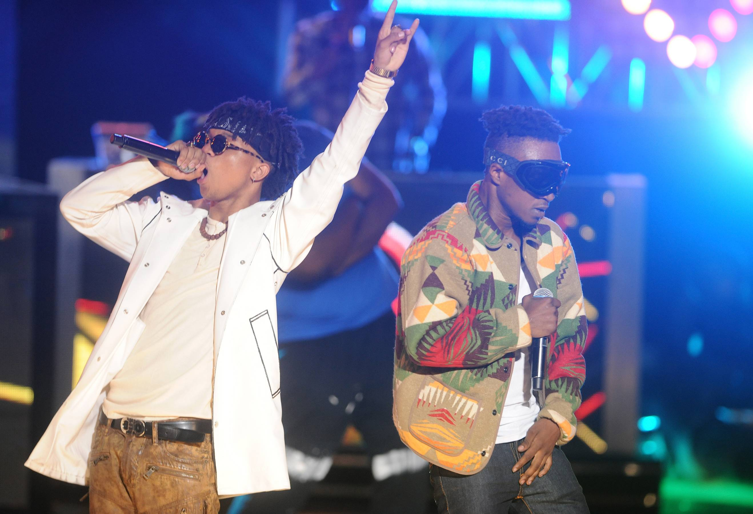 """'Lit Like Bic'  - Swae Lee and Slim Jimmy kick off their debut enjoying the spoils of success at a young age. From money and women to cars and weed and sipping on lean, the """"double trouble"""" duo gives a glimpse into a baller lifestyle. Slim Jimmy breaks down their ashy to classy come up, spitting, """"You say you run your f***n town, we need to link up/I came from that dirty town, look how I clean up.""""(Photo: Brad Barket/BET/Getty Images for BET)"""