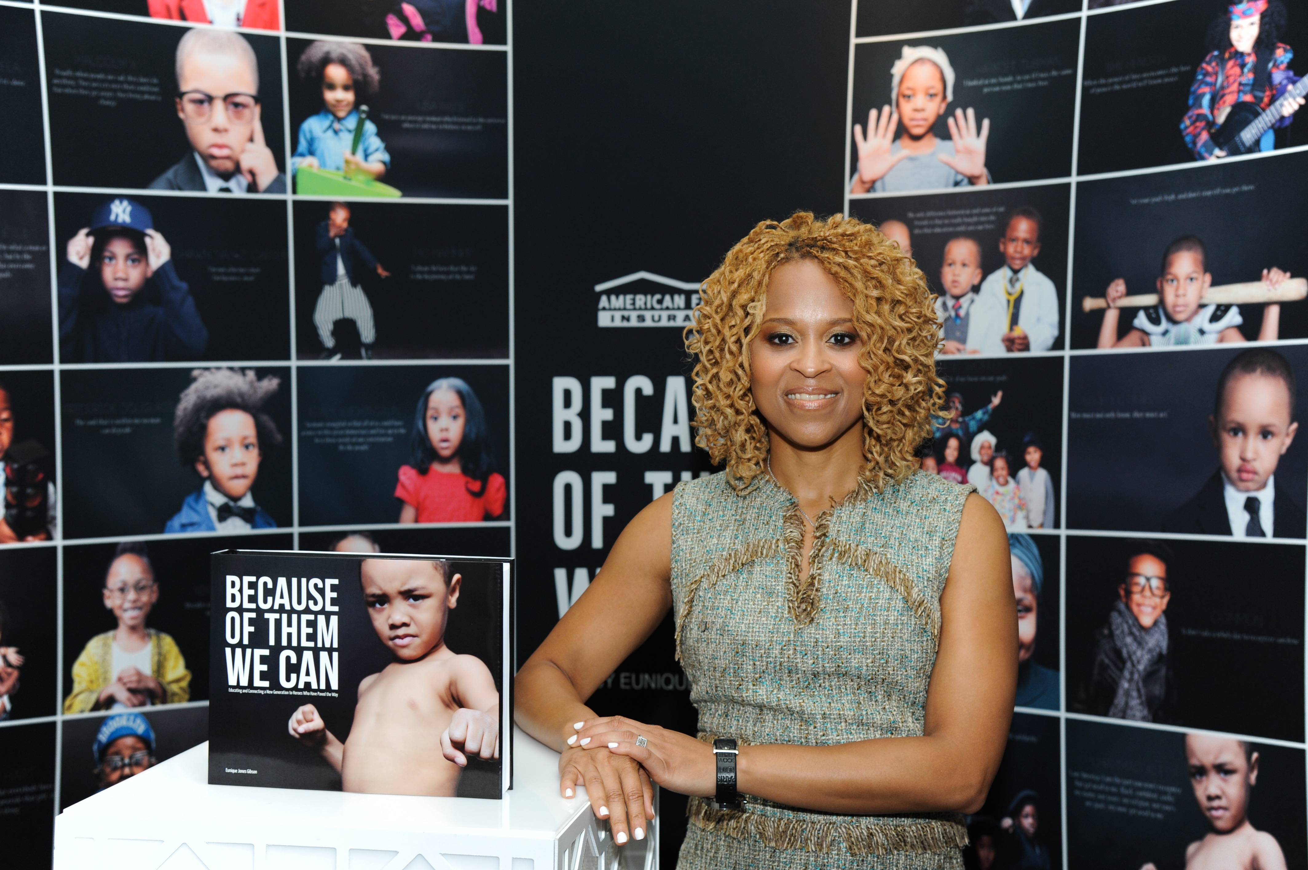 Esi Eggleston Bracey - How many icons can you recognize on the Dream Wall installation? (Photo: Vladimir Banjanac for BET)