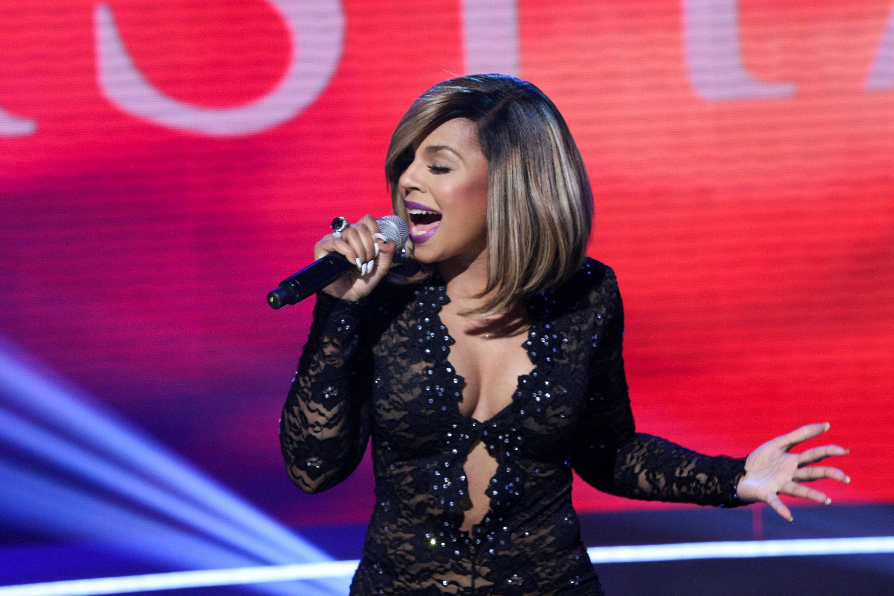 """Ashanti, """"Good Good"""" - Ashanti's 2008 single samples and speeds up some of the keys from Elton John's """"Bennie and the Jets."""" It also borrows its melody from Michael Jackson.(Photo: Bennett Raglin/BET/Getty Images)"""