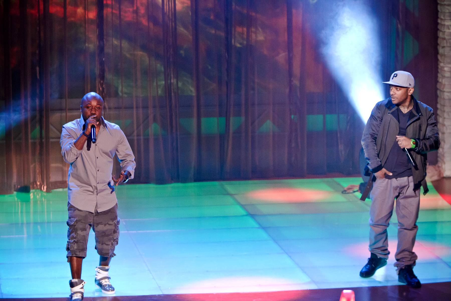 """Lifetime in Between the Papers - Havoc joins Prodigy to perform their classic hip hop jam """"Quiet Storm.""""(Photo: Darnell Williams/BET)"""