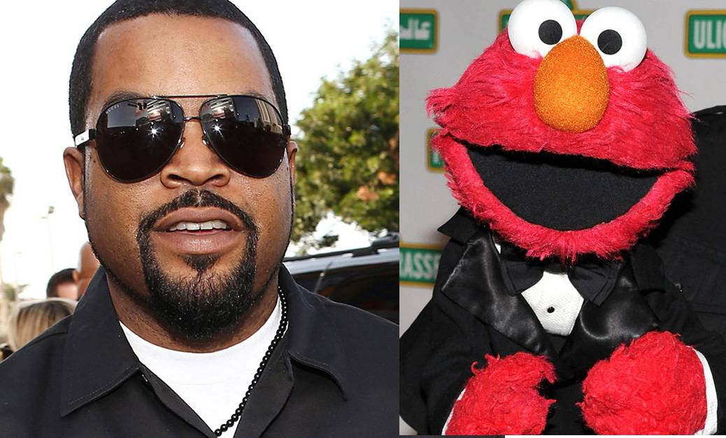 Ice Cube Kicks It With Elmo - Ice Cube hung out with Elmo on Sesame Street this week. The unlikely pair taught some vocabulary and even did some magic tricks. Yes, Ice Cube, the guy who was once in N.W.A. Check it out here.  (Photos from left: Christopher Polk/Getty Images, Bryan Bedder/Getty Images)