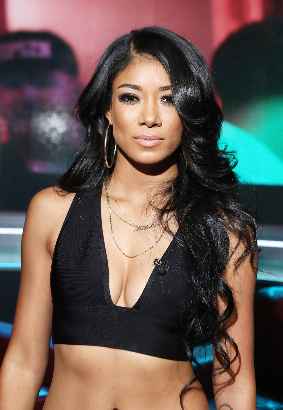 """Mila J - October 28 & 29, 2014 - Mila J performed her latest hit, """"My Main"""" and told us which R&B crooner she'd marry. Watch a clip now! (Photo: Bennett Raglin/BET/Getty Images)"""