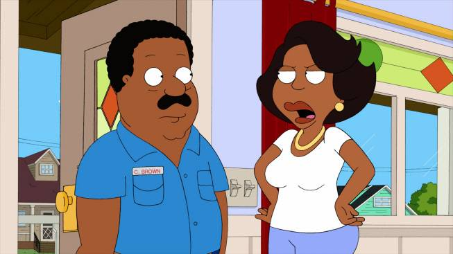 2. She's a Real Animated Wife - Yes, Sanaa voiced Donna Tubbs, aka Cleveland's wife, on The Cleveland Show.  (Photo: Fox)