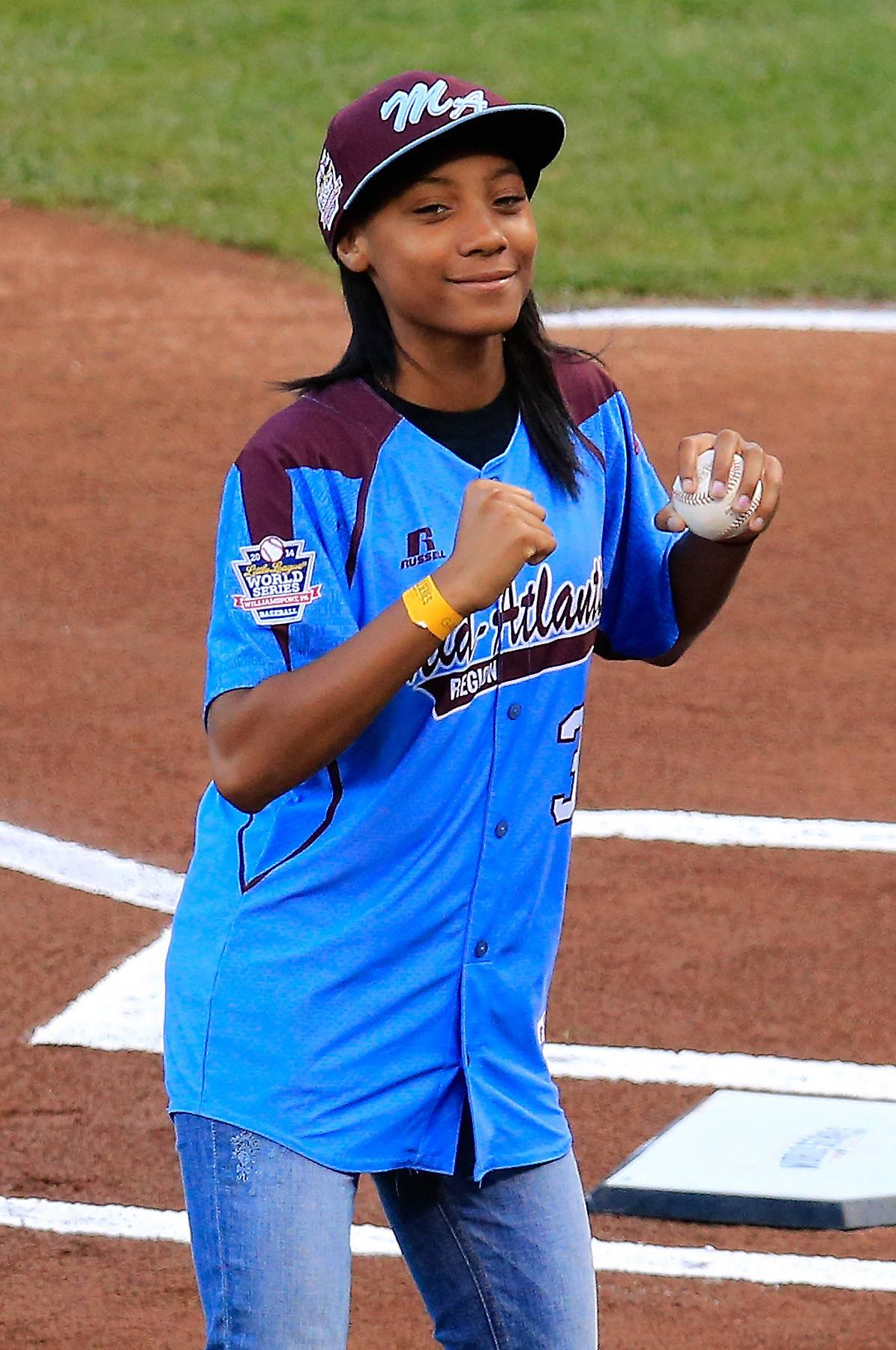 Mo'Ne Davis, Baseball Prodigy - Little League Baseball pitcher Mo'ne Davis threw the ceremonial first pitch before Game Four of the 2014 World Series at AT&T Park, and she did an amazing job. Speaking of amazing, she shot a commercial with Chevy, directed by Spike Lee,about how cool it is to throw like a girl.  (Photo: Rob Carr/Getty Images)