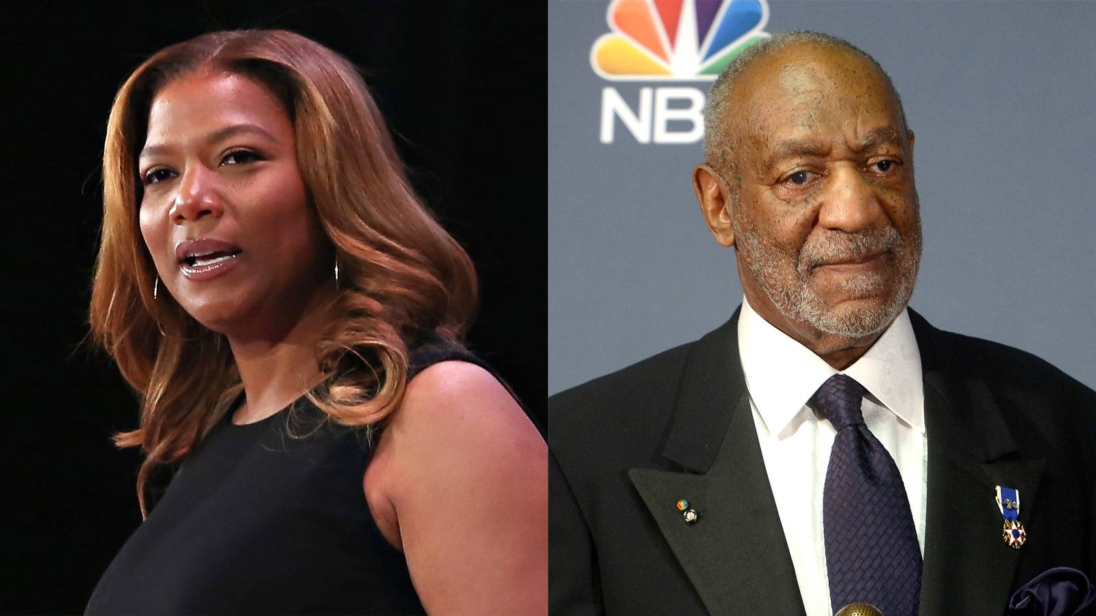 """Queen Latifah, Bill Cosby Drama - Queen Latifah may have cancelled a Bill Cosby interview on her show due to allegations of abuse that repeatedly keep surfacing against him.According to reports, 13 women have accused Cosby of rape and/or sexual abuse between 1970 and the mid-2000s. The allegations have once again, resurfaced.However, Bill Cosby's reps are claiming that he only postponed the interview.This sounds shady. It wouldn't be a surprise if it were true that Queen Latifah cancelled his appearance for this reason as she has spoken adamantly against sexual harassment, particularly in her classic song, """"U.N.I.T.Y.""""We'll be on standby to see how this unfolds.   (Photos from left: Cindy Ord/Getty Images, Michael Loccisano/Getty Images)"""