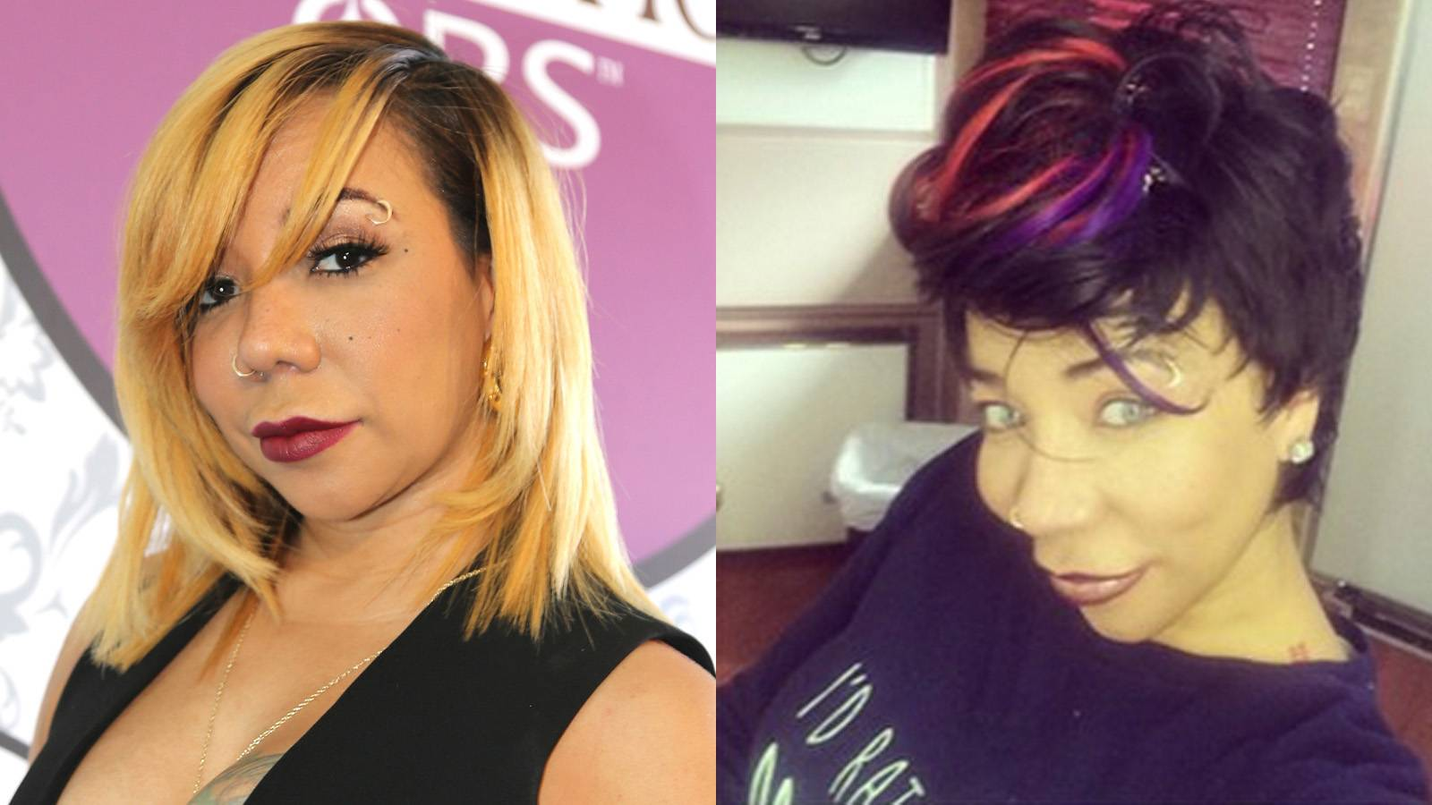 Tiny Defends Eye Color Change Surgery  - Tiny got a lot of backlash after debuting her new look. The T.I. & Tiny: The Family Hustle star got a procedure to permanantly change her eyes from dark brown to ice blue. Tiny flew to Africa to get it done and people have been dragging her for it. But now it's her turn. She went on Good Morning America to explain her extreme decision.   In short, she is happy with her decision and T.I. is cool with it as long as she's healthy. It's important to note that the dangerous procedure can potentially cause blindness in some people. Good luck with that, and hopefully we don't see a spike in people looking creepy with neon blue eyes.(Photos from left: Johnny Nunez/BET/Getty Images for BET, Tiny Harris via Instagram)