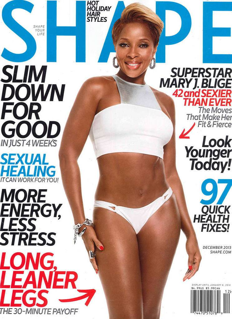 Getting Right! - We can always count on MJB for a good abs of steel moment. Yaaaaasssssss!  (Photo: Courtesy of SHAPE Magazine)